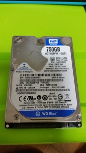 換装前HDD